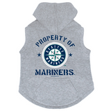 Seattle Mariners Dog Pet Premium Button Up Property Of Hoodie Sweatshirt