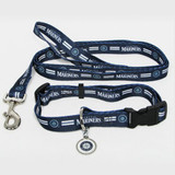 Seattle Mariners Dog 3pc Pet Set Leash Collar ID Tag