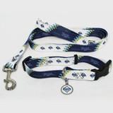 Tampa Bay Rays Dog 3pc Pet Set Leash Collar ID Tag