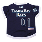 Tampa Bay Rays Dog Pet Premium Baseball Jersey