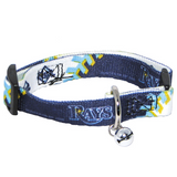 Tampa Bay Rays Cat Adjustable Safety Collar w/ Bell