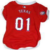 Texas Rangers Dog Pet Baseball Jersey
