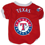 Texas Rangers Dog Pet Baseball Jersey Alternate