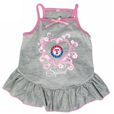 Texas Rangers Dog Pet Pink Too Cute Squad Jersey Tee Dress