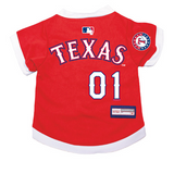 Texas Rangers Dog Pet Premium Baseball Jersey