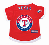 Texas Rangers Dog Pet Premium Baseball Jersey Alternate