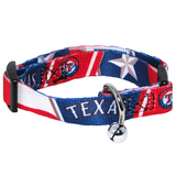 Texas Rangers Cat Adjustable Safety Collar w/ Bell