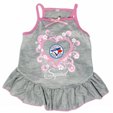 Toronto Blue Jays Dog Pet Pink Too Cute Squad Jersey Tee Dress