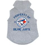 Toronto Blue Jays Dog Pet Premium Button Up Property Of Hoodie Sweatshirt