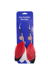 Alabama Crimson Tide Feather Earrings w/ Charms