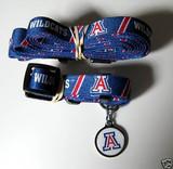 Arizona Wildcats Dog 3pc Pet Set Leash Collar ID Tag
