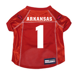 Arkansas Razorbacks Dog Pet Premium Mesh Football Jersey