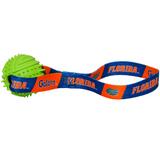 Florida Gators Dog Rubber Ball Tug Toss Toy
