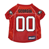 Georgia Bulldogs Dog Pet Premium Mesh Football Jersey