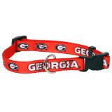 Georgia Bulldogs Dog Pet Premium Adjustable Nylon Collar