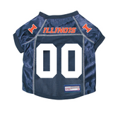 Illinois Fighting Illini Dog Pet Premium Mesh Football Jersey