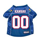 Kansas Jayhawks Dog Pet Premium Mesh Football Jersey