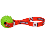 Louisville Cardinals Dog Rubber Ball Tug Toss Toy