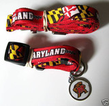 Maryland Terrapins Terps Dog 3pc Pet Set Leash Collar ID Tag