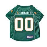 Miami Hurricanes Dog Pet Premium Mesh Football Jersey