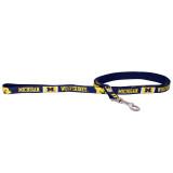 Michigan Wolverines Dog Pet Premium 6ft Nylon Lead Leash