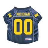 Michigan Wolverines Dog Pet Premium Mesh Football Jersey
