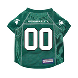 Michigan State Spartans Dog Pet Premium Mesh Football Jersey