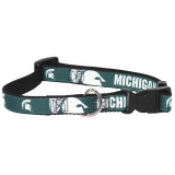 Michigan State Spartans Dog Pet Premium Adjustable Nylon Collar