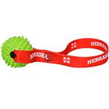 Nebraska Huskers Dog Rubber Ball Tug Toss Toy