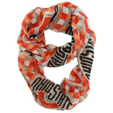 Ohio State Buckeyes Sheer Plaid Infinity Fashion Scarf