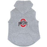 Ohio State Buckeyes Dog Pet Premium Button Up Embroidered Hoodie Sweatshirt