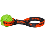 Oregon State Beavers Dog Rubber Ball Tug Toss Toy