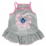 Toronto Maple Leafs Dog Pet Pink Too Cute Squad Jersey Tee Dress