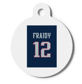 """Fraidy"" #12 Jersey Dog Cat ID Tag RuMe Find Lost Pet"