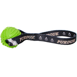 Purdue Boilermakers Dog Rubber Ball Tug Toss Toy