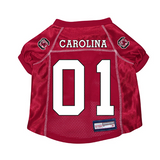 South Carolina Gamecocks Dog Pet Premium Mesh Football Jersey