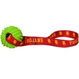 USC Trojans Dog Rubber Ball Tug Toss Toy