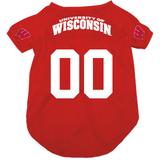 Wisconsin Badgers Dog Pet Mesh Football Jersey