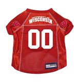Wisconsin Badgers Dog Pet Premium Mesh Football Jersey
