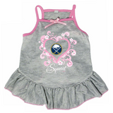 Buffalo Sabres Dog Pet Pink Too Cute Squad Jersey Tee Dress