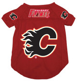 Calgary Flames Dog Pet Mesh Hockey Jersey