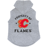 Calgary Flames Dog Pet Premium Button Up Property Of Hoodie Sweatshirt