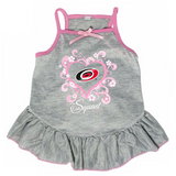 Carolina Hurricanes Dog Pet Pink Too Cute Squad Jersey Tee Dress