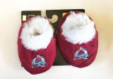 Colorado Avalanche Fuzzy Baby Slippers