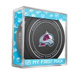 Colorado Avalanche My First Official Puck In Case Baby Boy Blue