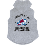 Colorado Avalanche Dog Pet Premium Button Up Property Of Hoodie Sweatshirt