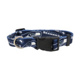 Seattle Seahawks Dog Pet Adjustable Nylon Logo Collar