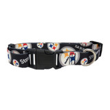 Pittsburgh Steelers Dog Pet Adjustable Nylon Logo Collar