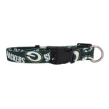 Green Bay Packers Dog Pet Adjustable Nylon Logo Collar