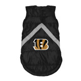 Cincinnati Bengals Dog Pet Premium Puffer Vest Reflective Jacket